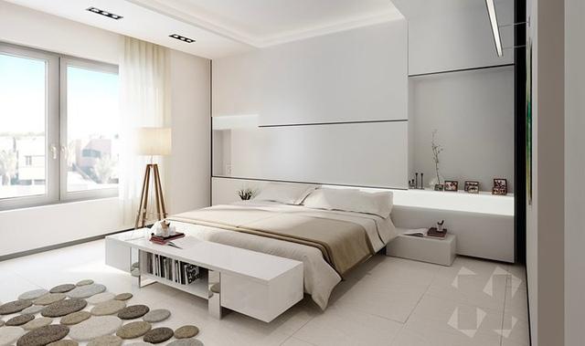 Phòng ngủ màu trắng nhẹ nhàng và thư giãn - Ảnh 2.