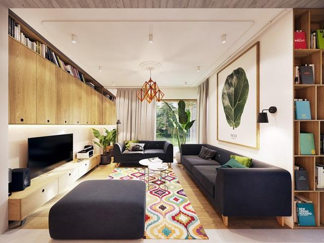Tạo điểm nhấn ấn tượng cho ngôi nhà với màu xanh lá cây - Ảnh 1.