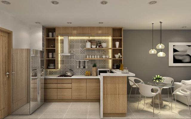 Chiêm ngưỡng những thiết kế bếp đẹp và hiện đại cho nhà chung cư - Ảnh 3.