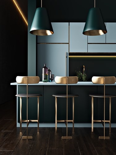 Ngắm phòng bếp được thiết kế lung linh với màu xanh dương - Ảnh 4.