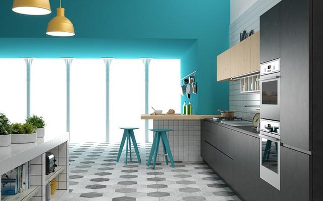 Ngắm phòng bếp được thiết kế lung linh với màu xanh dương - Ảnh 5.
