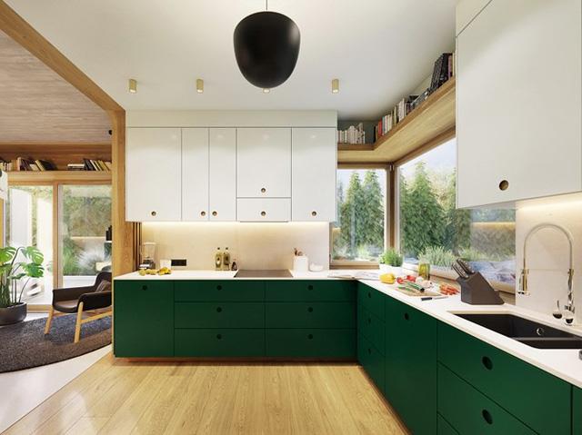 Tạo điểm nhấn ấn tượng cho ngôi nhà với màu xanh lá cây - Ảnh 5.