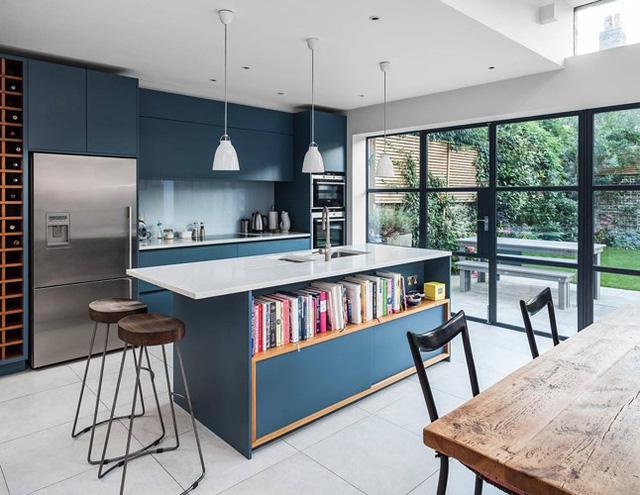 Ngắm phòng bếp được thiết kế lung linh với màu xanh dương - Ảnh 7.
