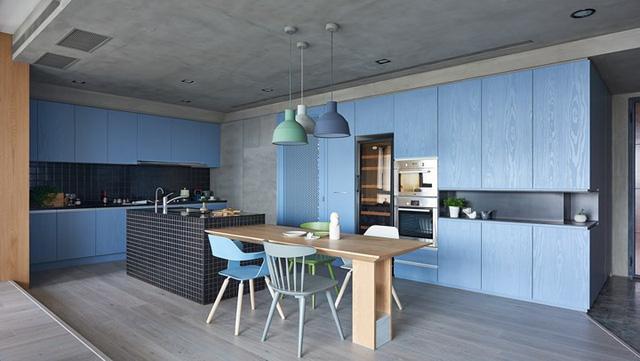 Ngắm phòng bếp được thiết kế lung linh với màu xanh dương - Ảnh 8.