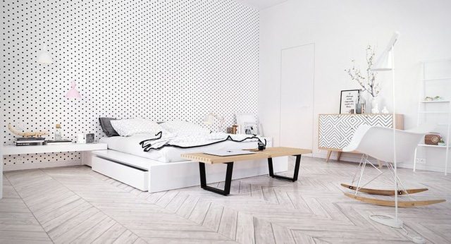 Phòng ngủ màu trắng nhẹ nhàng và thư giãn - Ảnh 8.