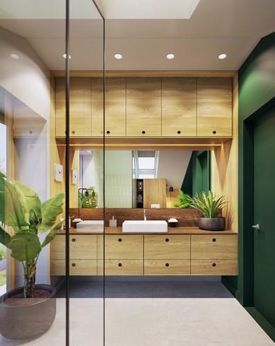 Tạo điểm nhấn ấn tượng cho ngôi nhà với màu xanh lá cây - Ảnh 8.